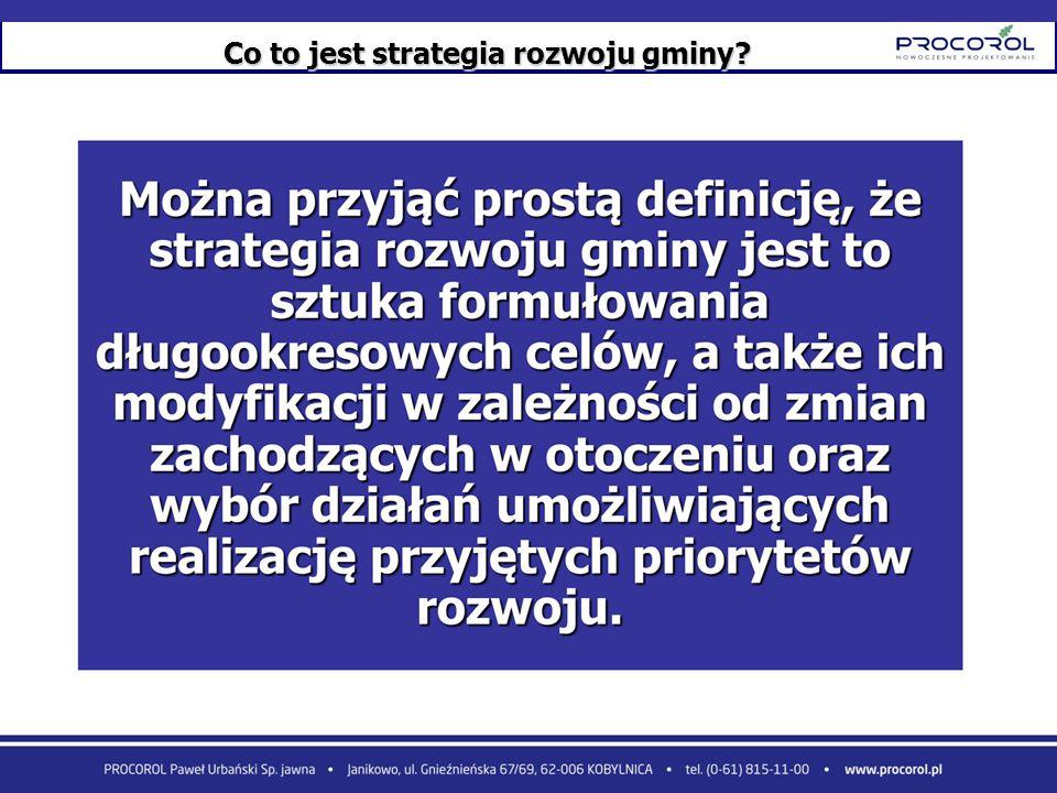 Co to jest strategia rozwoju gminy
