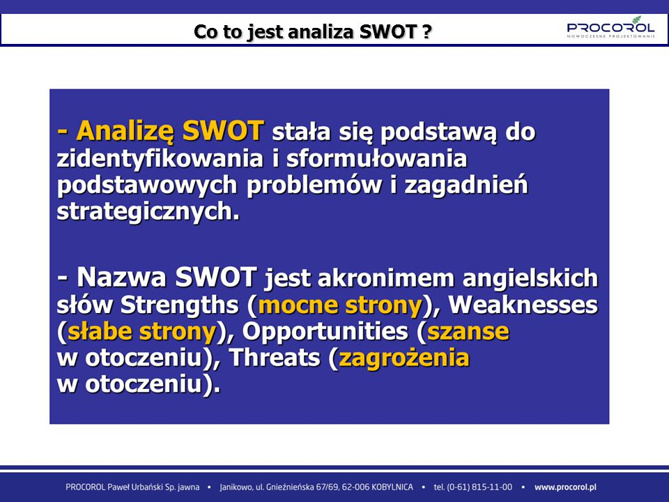 Co to jest analiza SWOT 24