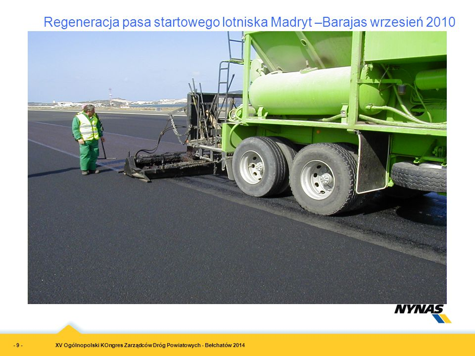 Regeneracja pasa startowego lotniska Madryt –Barajas wrzesień 2010