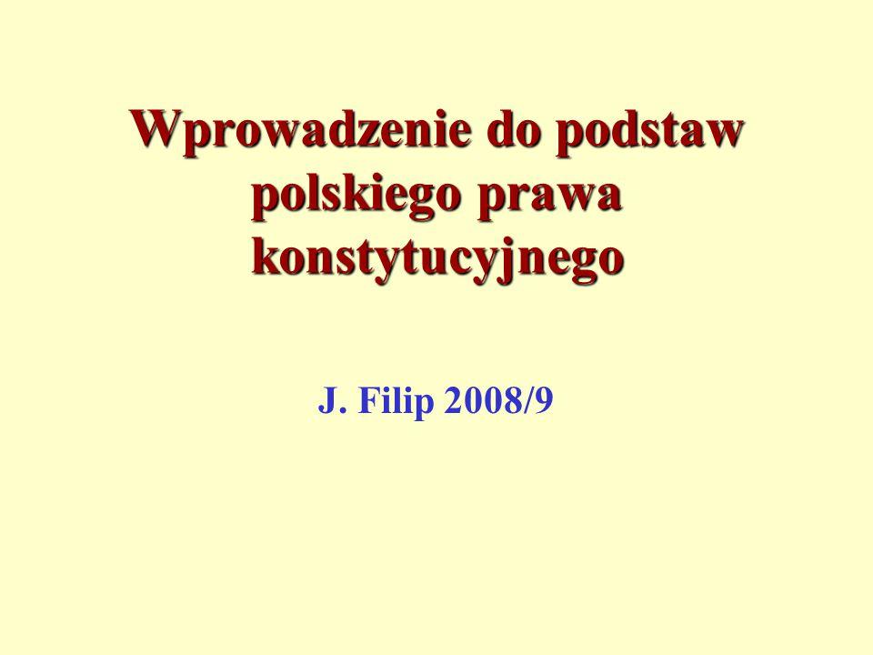 Wprowadzenie do podstaw polskiego prawa konstytucyjnego