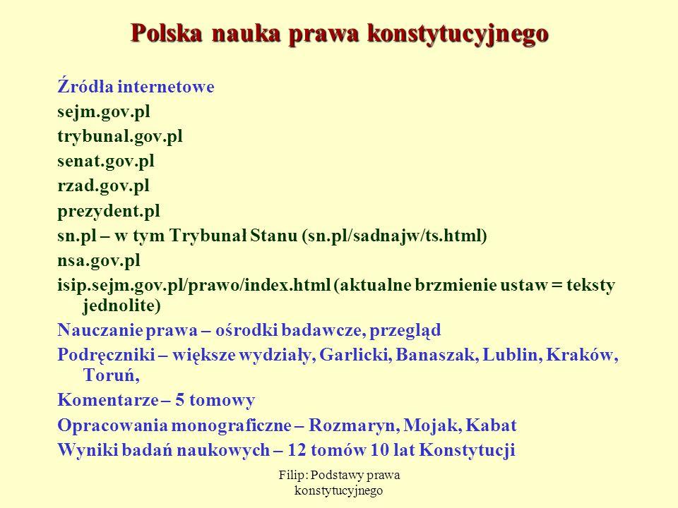 Polska nauka prawa konstytucyjnego