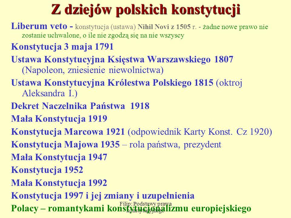 Z dziejów polskich konstytucji