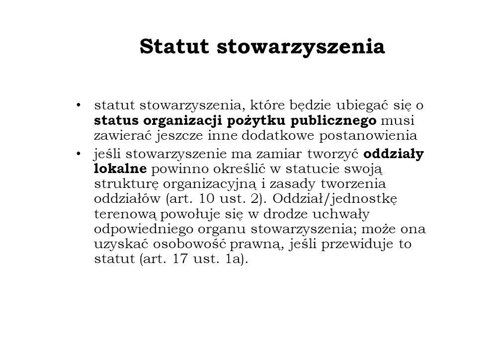 Statut stowarzyszenia