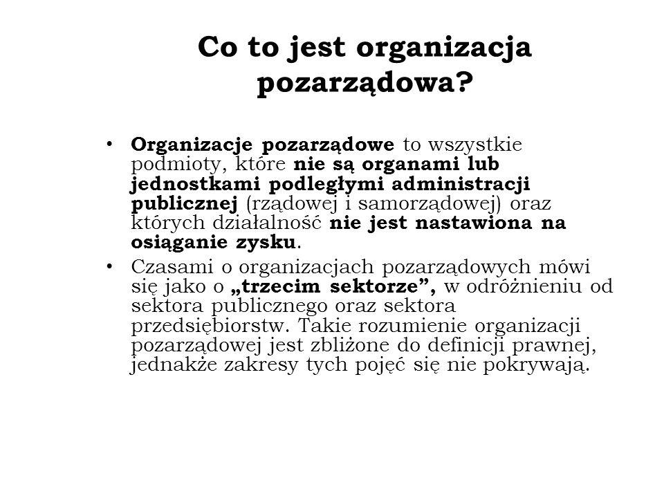 Co to jest organizacja pozarządowa