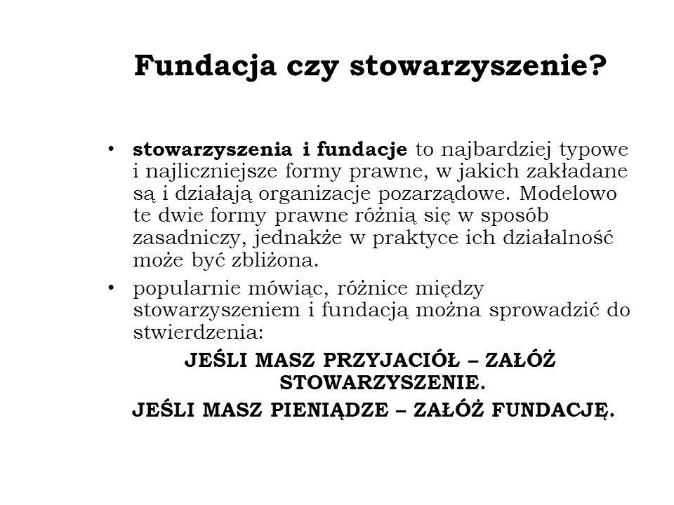 Fundacja czy stowarzyszenie