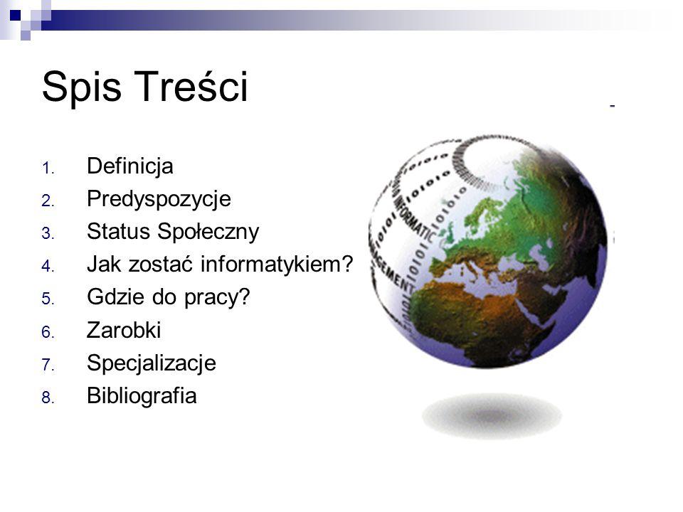 Spis Treści Definicja Predyspozycje Status Społeczny