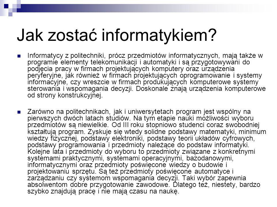 Jak zostać informatykiem