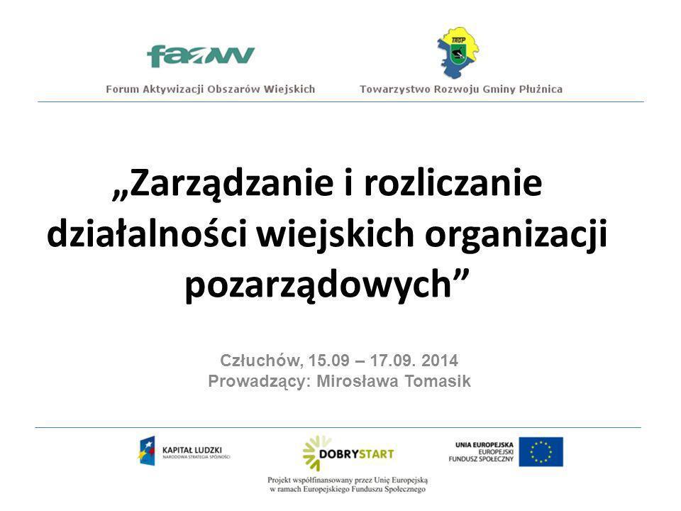 Prowadzący: Mirosława Tomasik