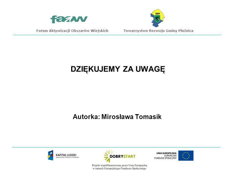 Autorka: Mirosława Tomasik