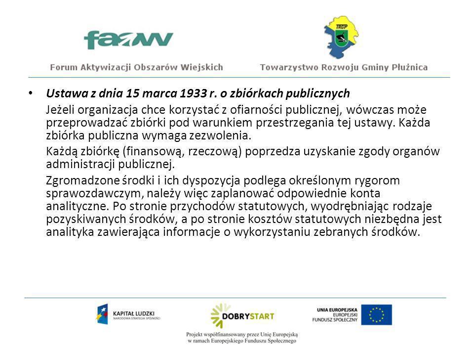 Ustawa z dnia 15 marca 1933 r. o zbiórkach publicznych