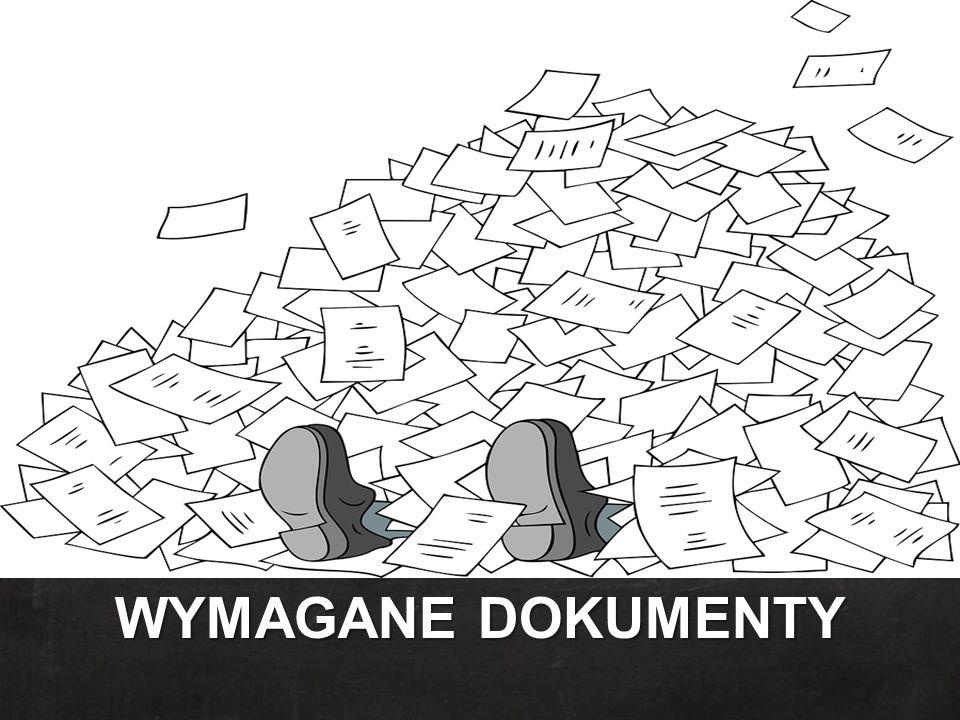 WYMAGANE DOKUMENTY