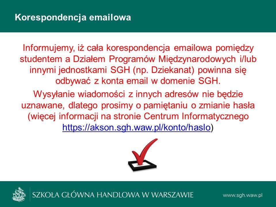 Korespondencja emailowa