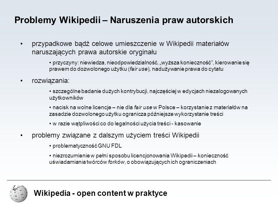 Problemy Wikipedii – Naruszenia praw autorskich