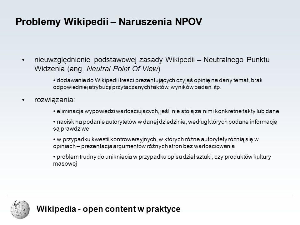 Problemy Wikipedii – Naruszenia NPOV