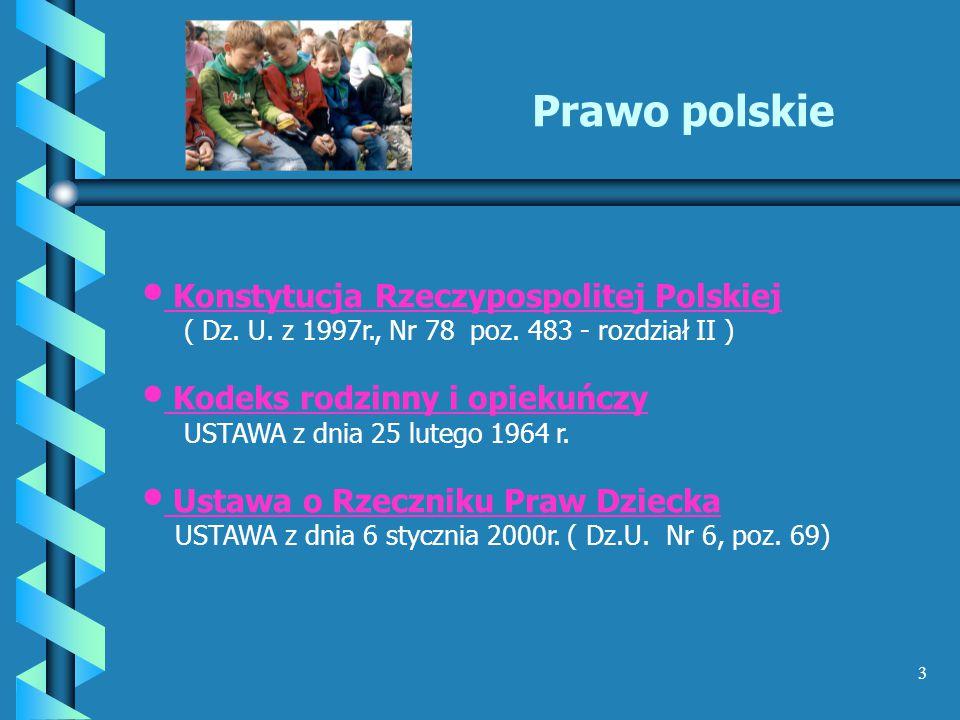 Prawo polskie Konstytucja Rzeczypospolitej Polskiej