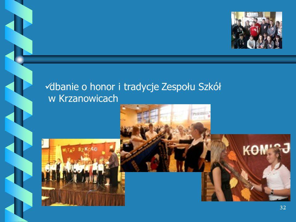 dbanie o honor i tradycje Zespołu Szkół