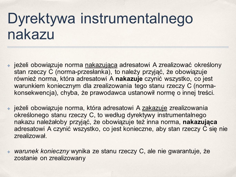 Dyrektywa instrumentalnego nakazu