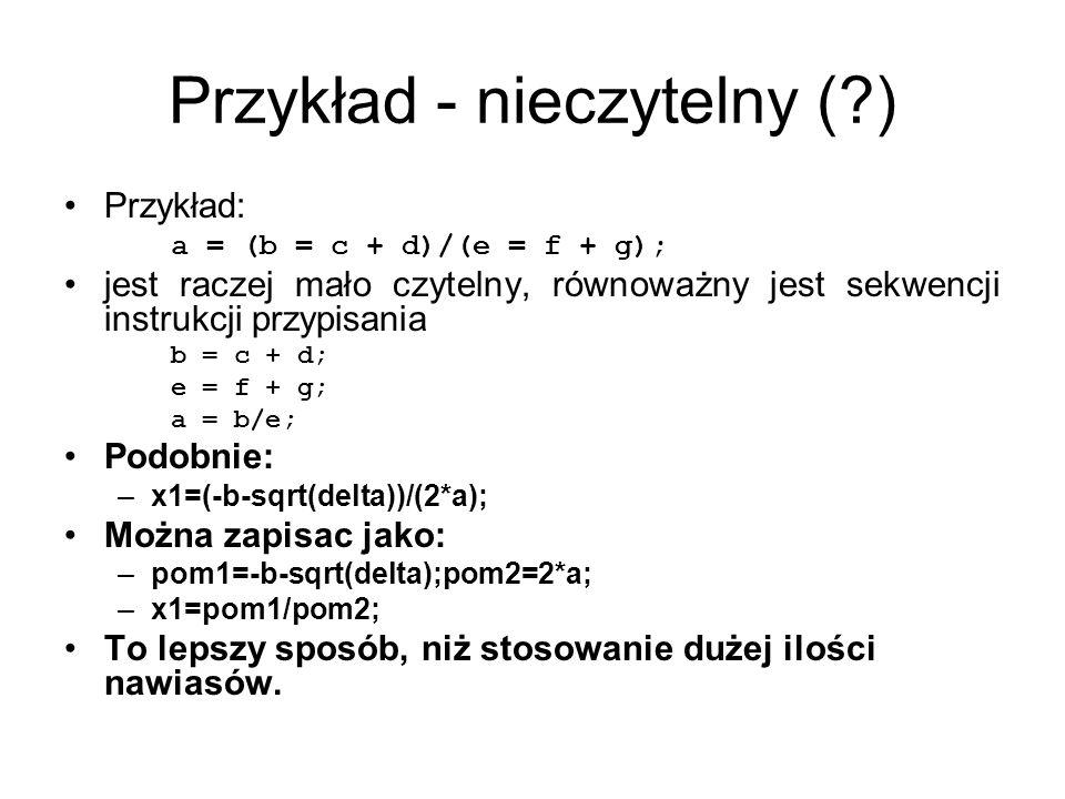 Przykład - nieczytelny ( )
