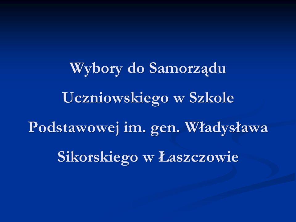 Wybory do Samorządu Uczniowskiego w Szkole Podstawowej im. gen