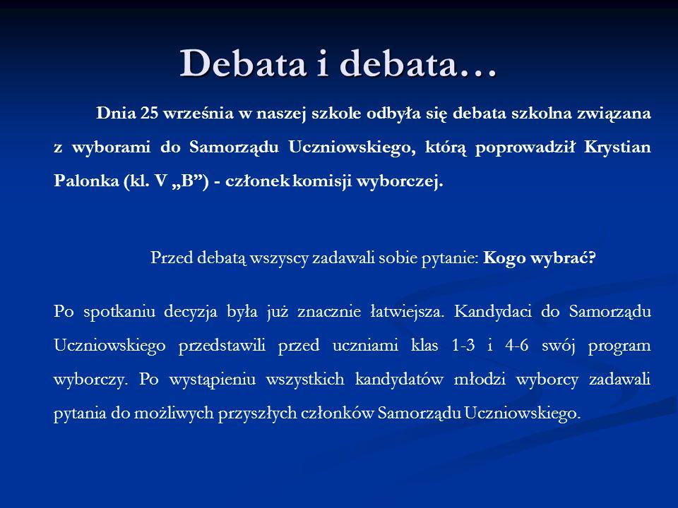 Przed debatą wszyscy zadawali sobie pytanie: Kogo wybrać