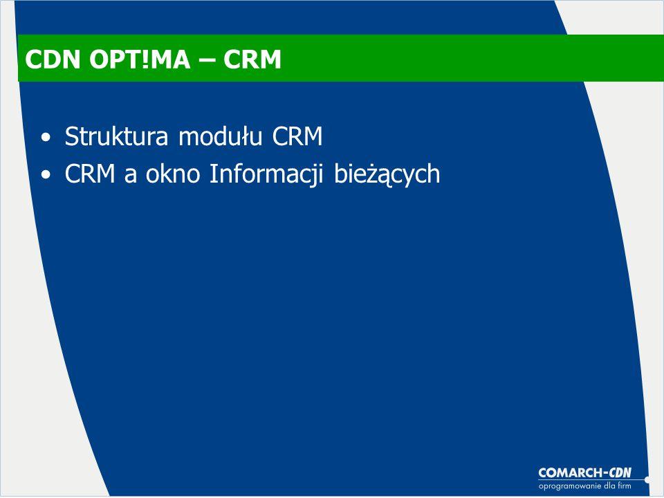 CRM a okno Informacji bieżących