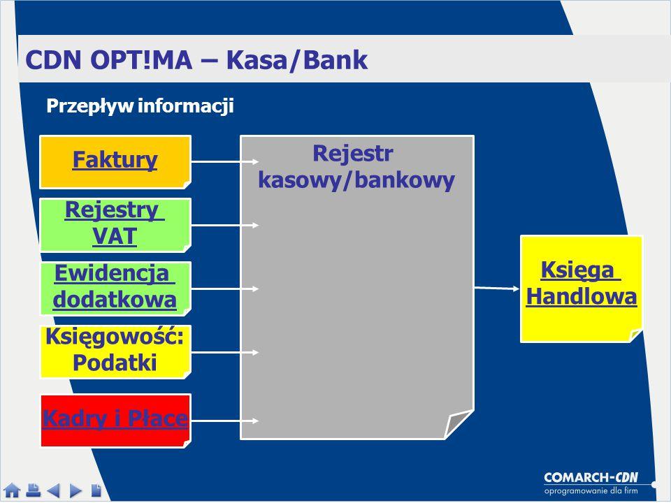 Rejestr kasowy/bankowy