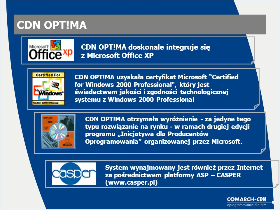 CDN OPT!MA CDN OPT!MA doskonale integruje się z Microsoft Office XP
