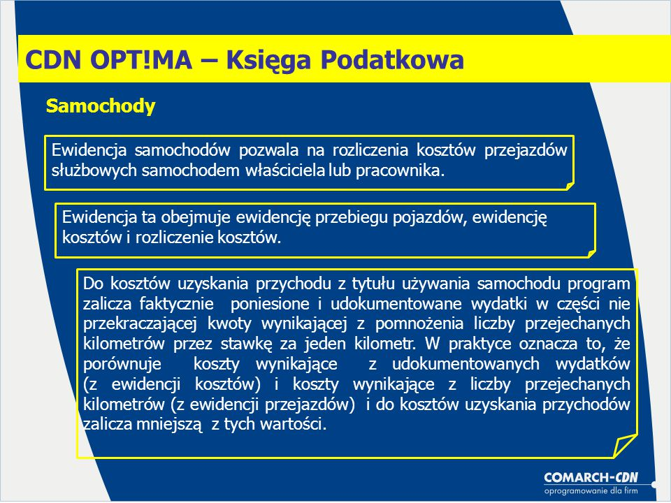 CDN OPT!MA – Księga Podatkowa