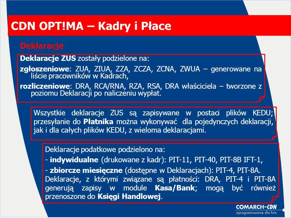 CDN OPT!MA – Kadry i Płace