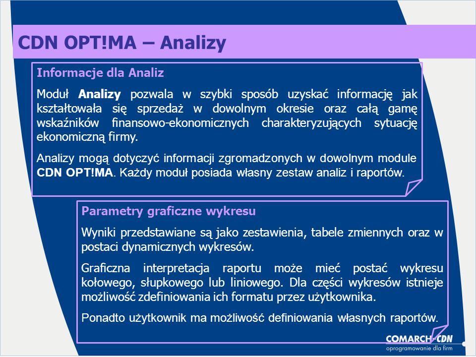 CDN OPT!MA – Analizy Informacje dla Analiz