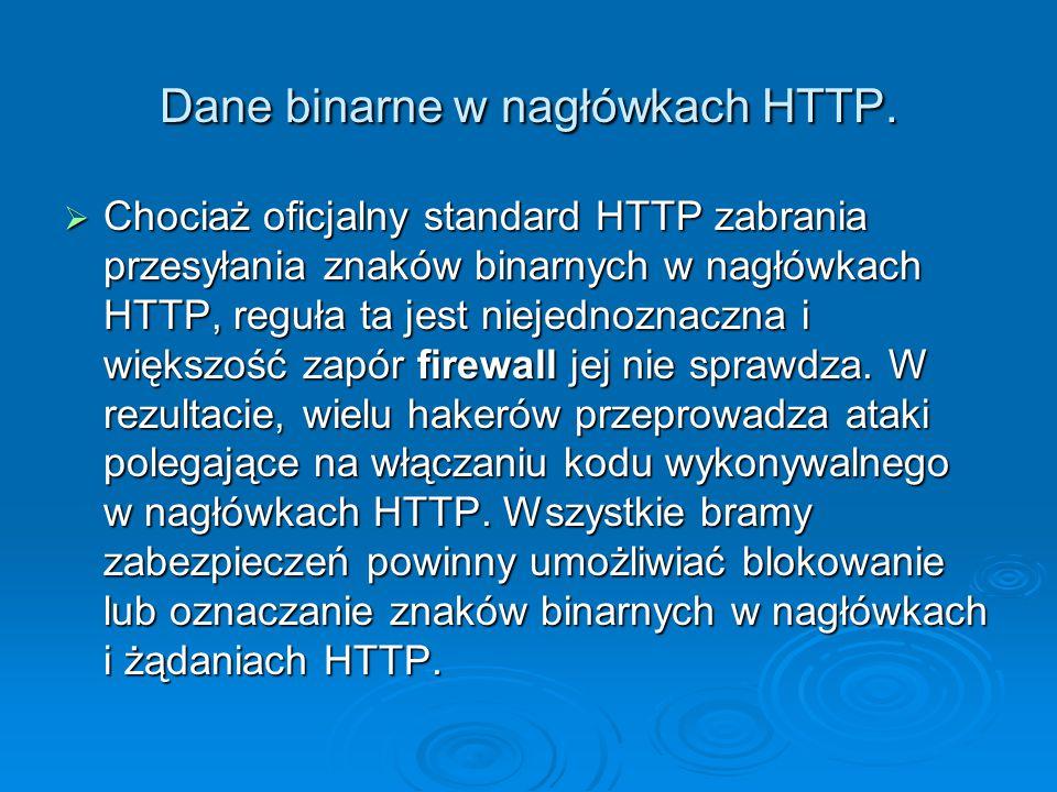 Dane binarne w nagłówkach HTTP.