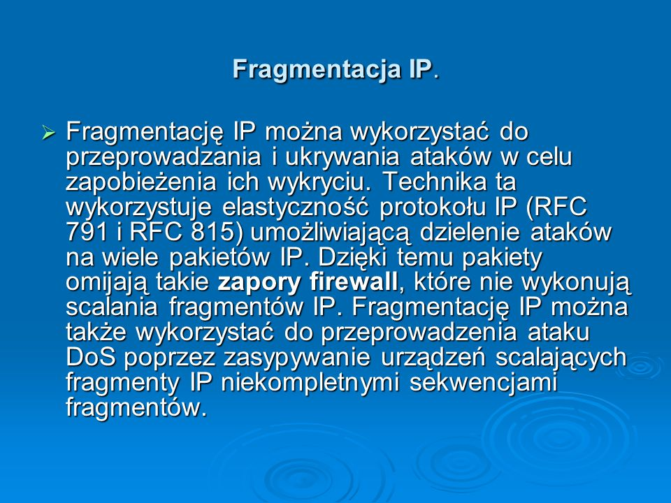 Fragmentacja IP.