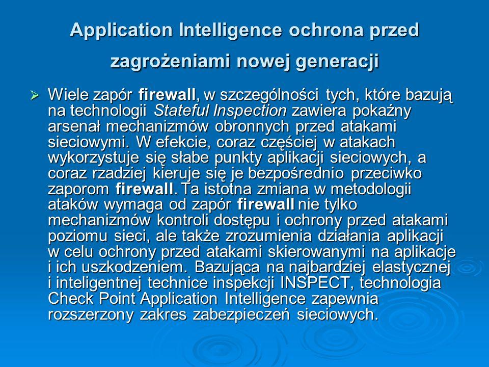 Application Intelligence ochrona przed zagrożeniami nowej generacji