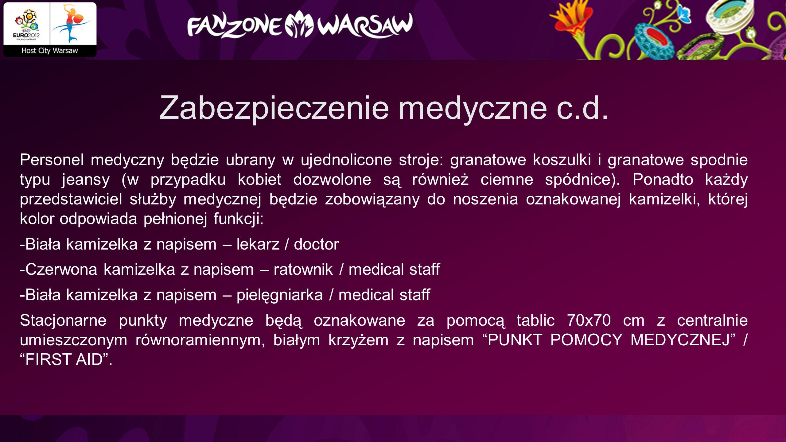 Zabezpieczenie medyczne c.d.