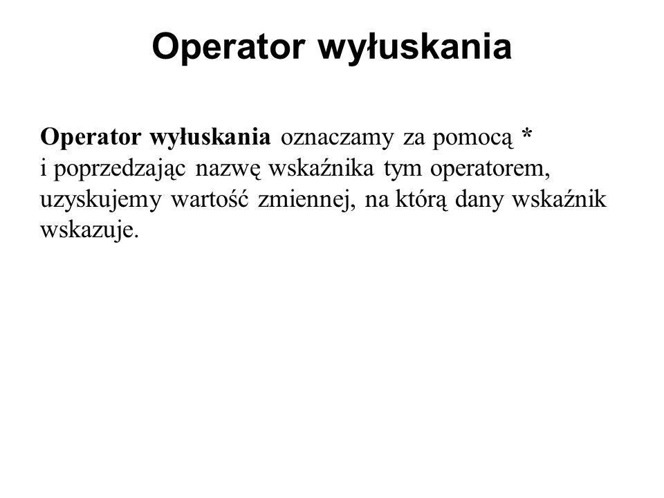 Operator wyłuskania