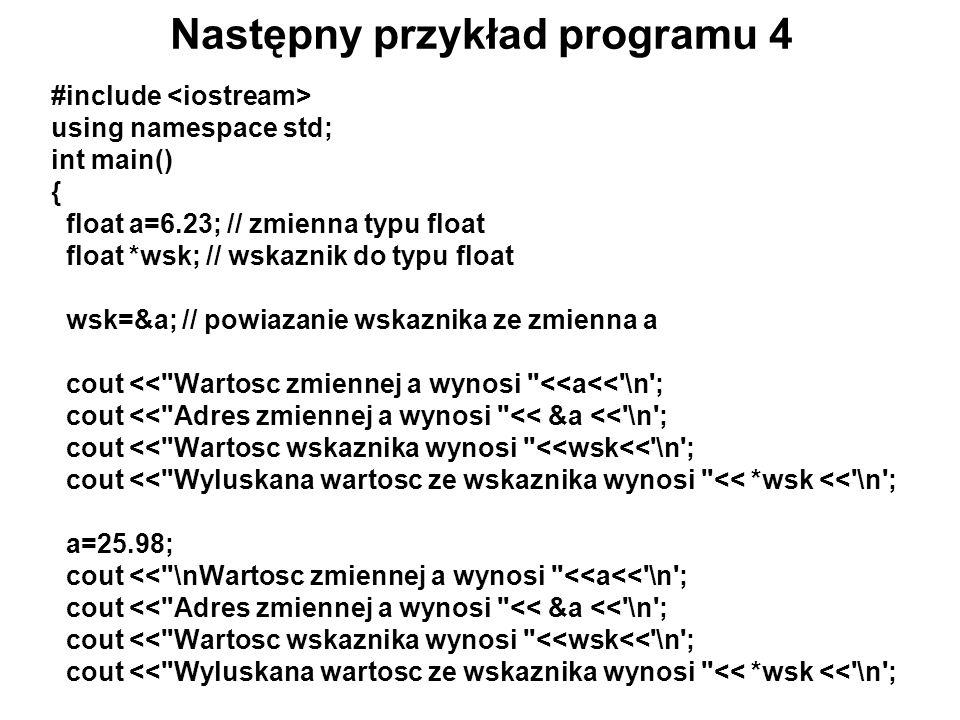 Następny przykład programu 4