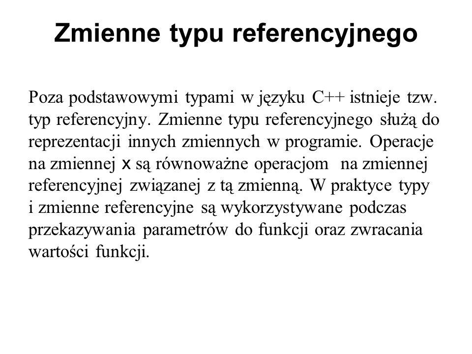 Zmienne typu referencyjnego