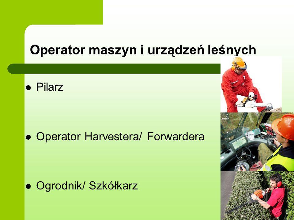 Operator maszyn i urządzeń leśnych