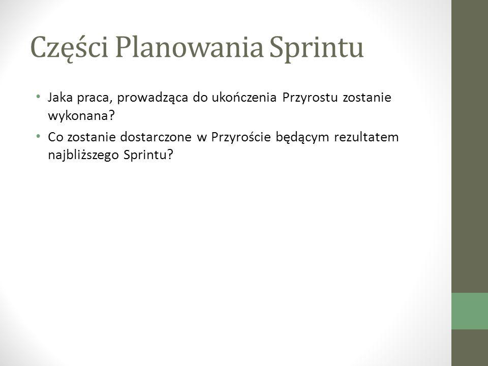 Części Planowania Sprintu