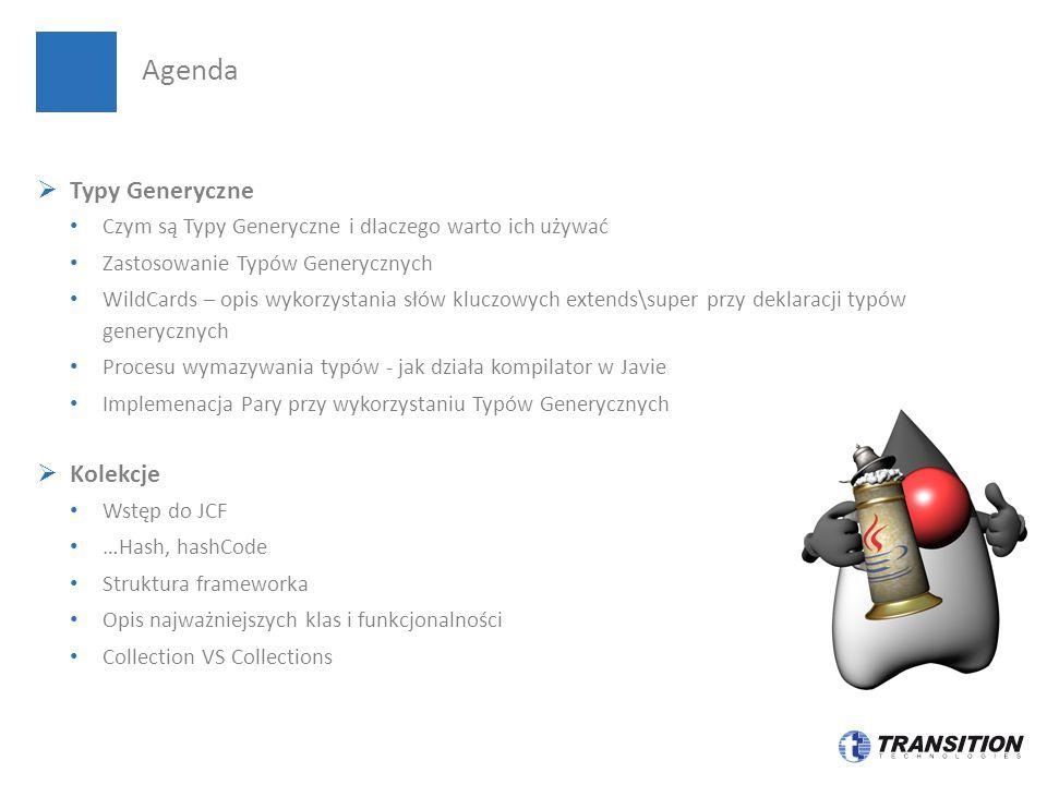 Agenda Typy Generyczne Kolekcje