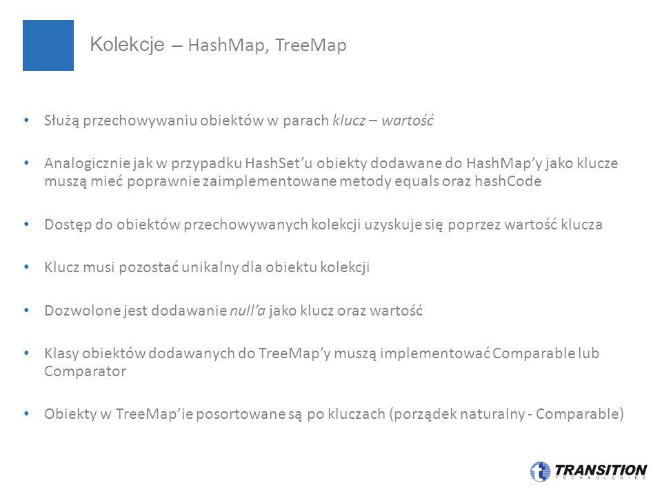 Kolekcje – HashMap, TreeMap