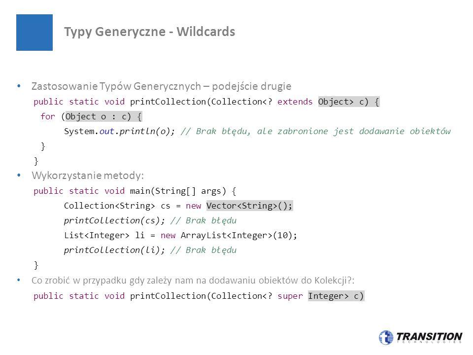 Typy Generyczne - Wildcards