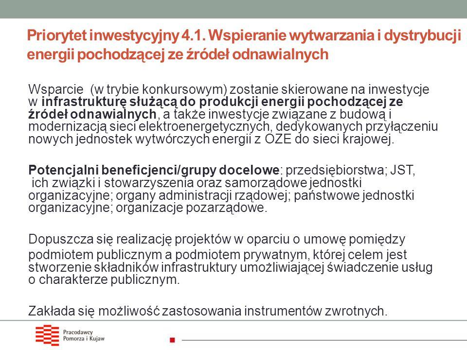 Priorytet inwestycyjny 4. 1