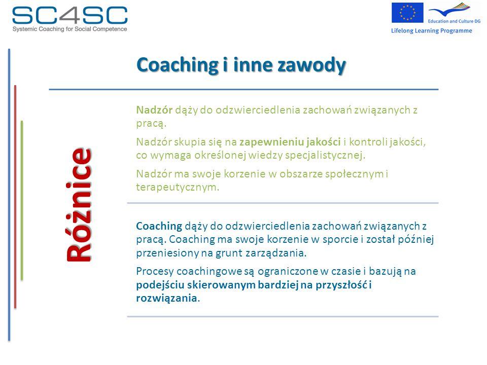 Różnice Coaching i inne zawody