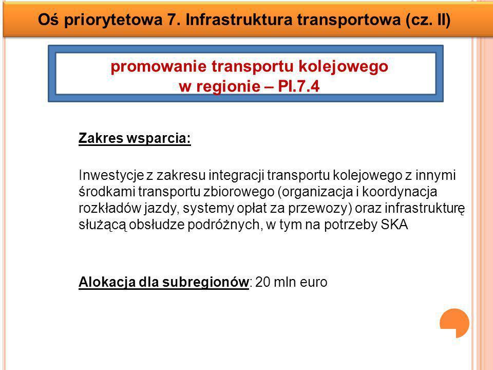promowanie transportu kolejowego w regionie – PI.7.4