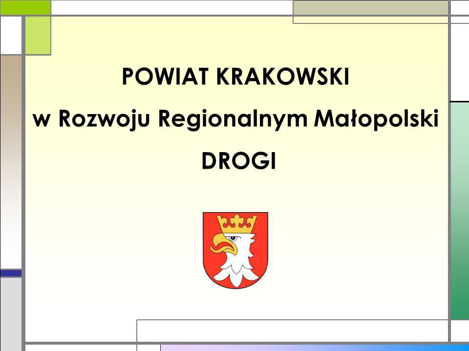 POWIAT KRAKOWSKI w Rozwoju Regionalnym Małopolski DROGI