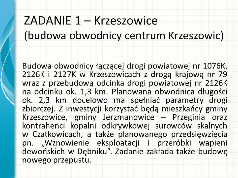 ZADANIE 1 – Krzeszowice (budowa obwodnicy centrum Krzeszowic)
