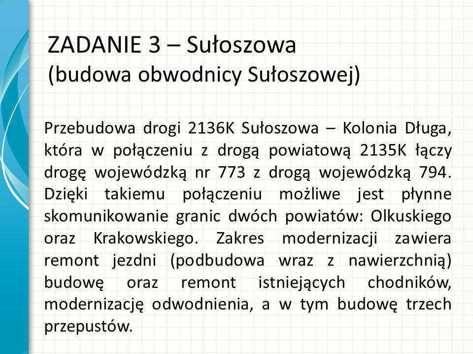 ZADANIE 3 – Sułoszowa (budowa obwodnicy Sułoszowej)