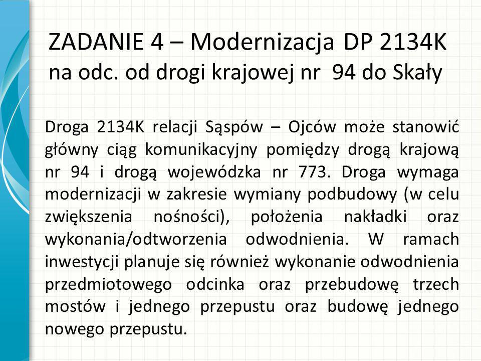 ZADANIE 4 – Modernizacja DP 2134K na odc