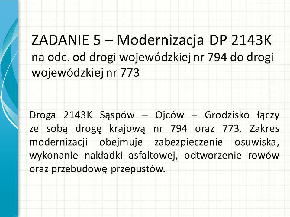 ZADANIE 5 – Modernizacja DP 2143K na odc